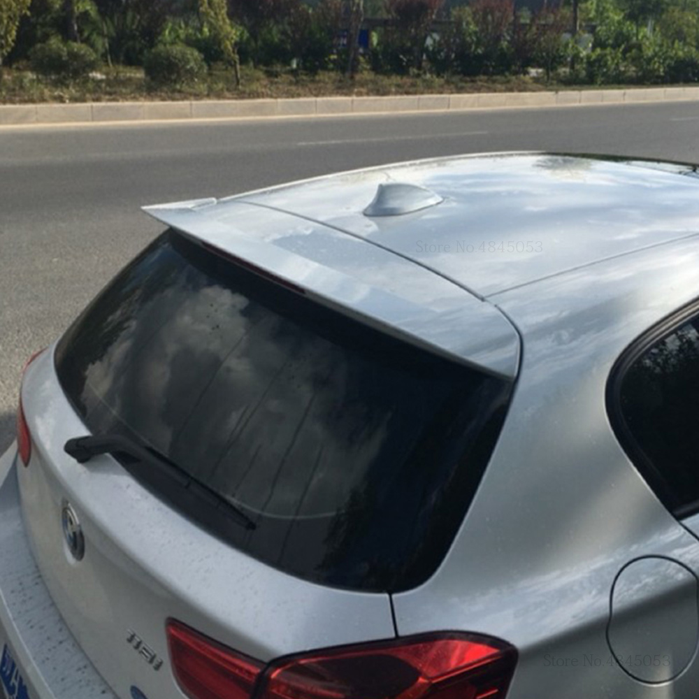 For <font><b>BMW</b></font> 1Series Hatchback 116i <font><b>118i</b></font> 120i 125i 135i <font><b>F20</b></font> Black Spoiler 2012-2018 ABS Plastic Rear Trunk Boot Wing White Spoiler image