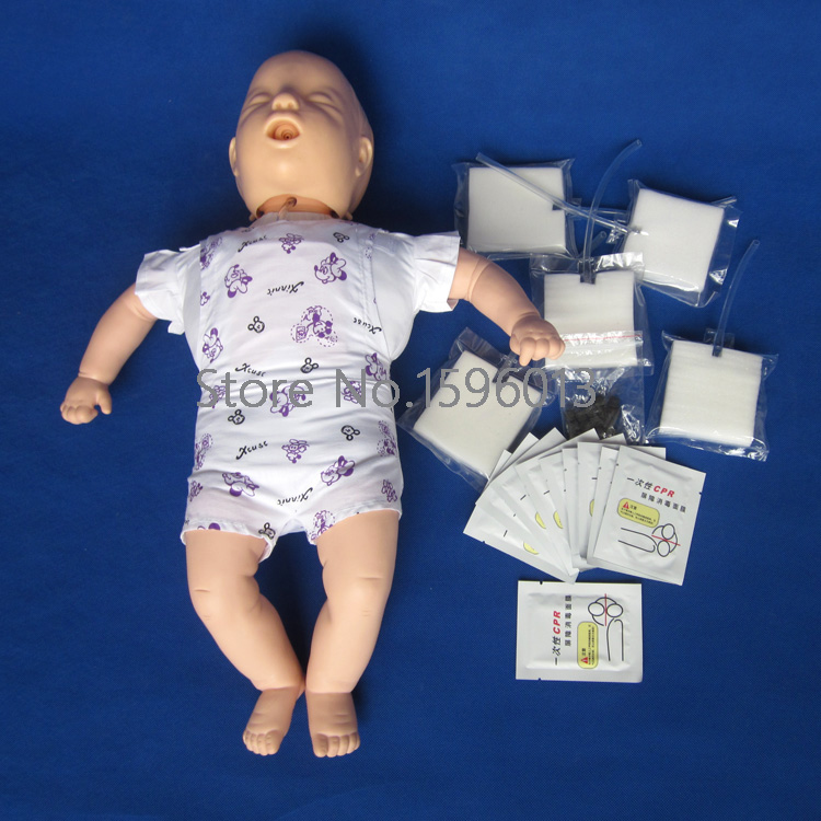 Infant/Baby CPR and Obstruction Training Manikin Model, Infant/Baby First aid Training Doll 2017 firs t aid training medical models cpr adult obstruction model