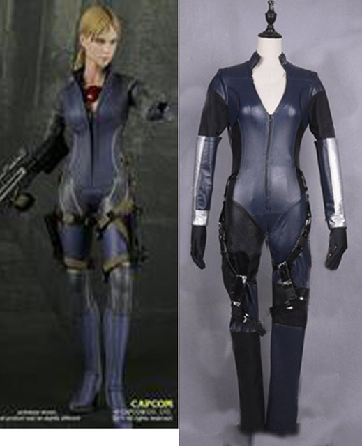 Resident Evil 5 Jill Valentine Cosplay Leather Costume Any Size On