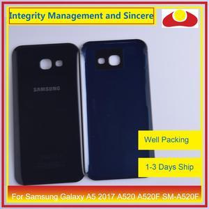 Image 3 - מקורי עבור Samsung Galaxy A5 2017 A520 A520F SM A520F שיכון סוללה דלת אחורי כיסוי אחורי מקרה מארז פגז החלפה