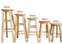 45CM/ 50CM/ 60CM/ 70CM/ 80CM Height Bar Stool Solid wood Top Dining Chair Mordern Style Bar Furniture