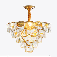 luxury design crystal lamp chandeliers modern lighting AC110V 220V lustre LED home decoration gold chandelier