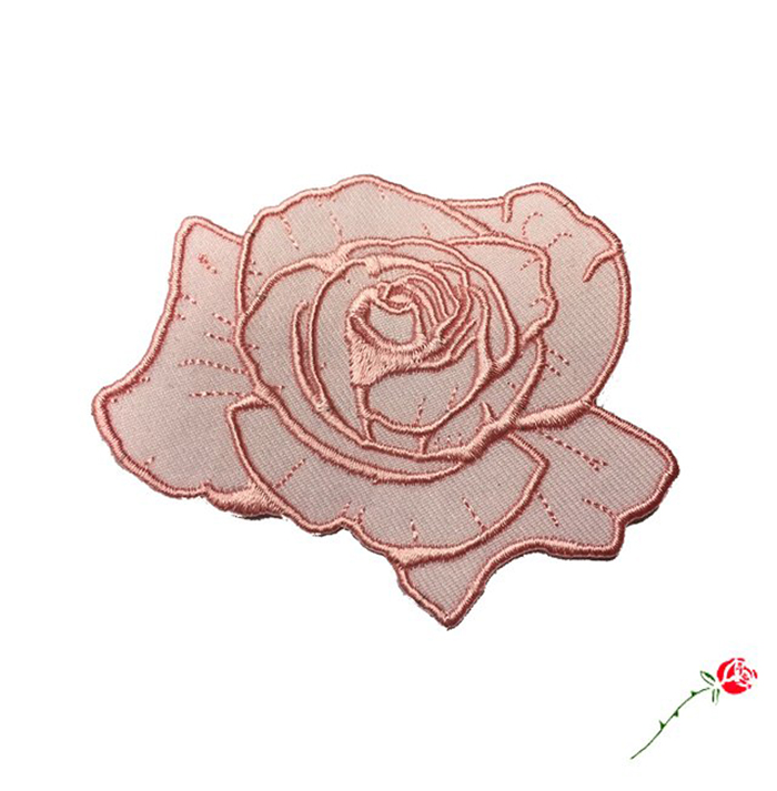 Dusty Rose Patch 2.875 inch