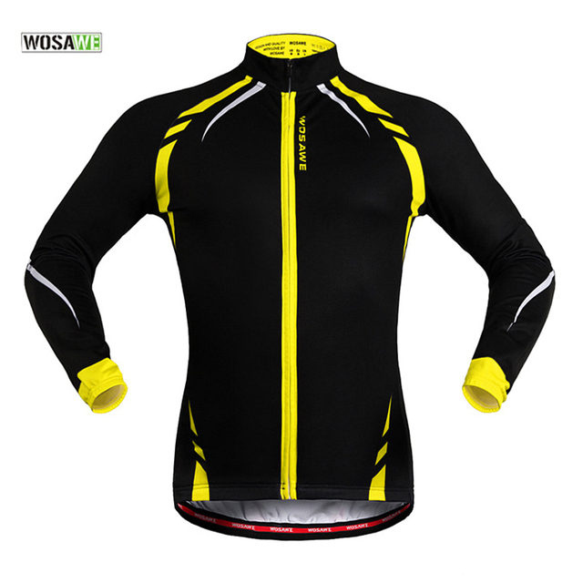 WOSAWE Women Men Cycling Jacket Winter Warm Fleece Fitness Running Outdoor Sports  Bike Bicycle Wind Coat Long Sleeve Jersey 5732ef868