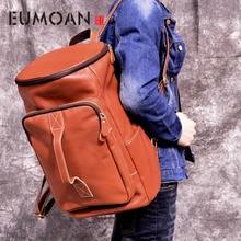 EUMOAN Vintage Men Backpack large Leather Laptop Backpack Genuine Leather Men Bag Fashion Backpacks for Teen Travel School Bag все цены