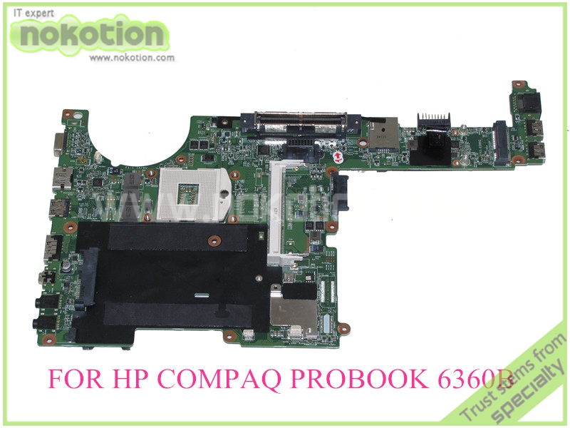 NOKOTION 641733-001 48.4KT01.011 For HP Compaq probook 6360B Laptop motherboard HM65 DDR3 база под макияж isadora strobing fluid highlighter 81