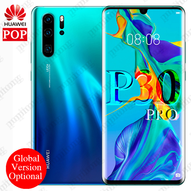 Global version optional Huawei P30 Pro Mobile Phone 6.47'' Full Screen OLED Kirin 980 Smartphone NFC GPS Android 9.1 5 Cameras