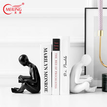 Modern Human Body Bookends Glaze Ceramic Pottery Book Ends Abstract Collectible Office Decor Desktop Figurine Housewarming Gift