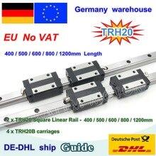 【DE free VAT】 20mm kwadratowa prowadnica liniowa TRH20 400 500 600 800 1200mm i TRH20B wózki kwadratowy blok suwakowy do routera CNC