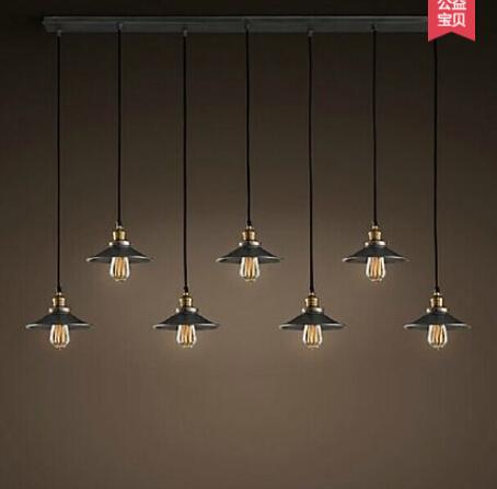 Nordic Eisen Anhnger Lampen Retro Wohnzimmer Lampe Einzigen Kopf Der Industriellen Wind Spiegel Bronze Pendelleuchten