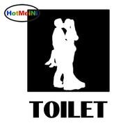 HotMeiNi High Quality Toilet Logo Romantic Man Young Couple Kiss Sex Car Sticker Truck Laptop Art Wall Etc Vinyl Decal 10 Colors