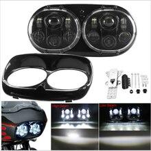 Per le luci delle Harley Road glide LED accessori Faro del faro di Alto/Basso Doppio Faro Per Harley Road Glide