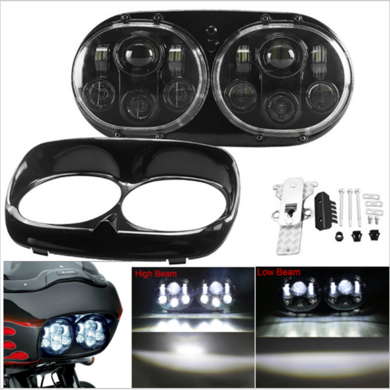 For Harley's Lights Road Glide LED Headlight Accessories Headlight High/Low Double Headlight For Harley Road Glide