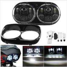 for Harleys lights Road glide LED Headlight accessories headlight High/Low Double Headlight For Harley Road Glide