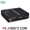 Intel Celeron j1900 mini pc quad core безвентиляторный компьютер с VGA HDMI 1 lan порта 2 com поддержка windows 10 windows 7 8 Linux Ubuntu