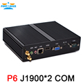 Intel celeron j1900 mini pc quad core fanless computador com vga hdmi 1 porta lan 2 com suporte do windows 10 windows 7 8 Linux Ubuntu