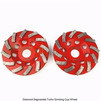 2PK Diameter 4 5 115mm Diamond Grinding Cup Wheel For Concrete Grinding Disc Segmented Turbo Type