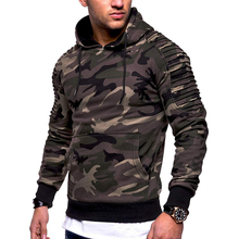 Fashion Camouflage Hooides Men's Thick Clothes Winter Sweatshirts Men Hip Hop Streetwear Solid Fleece Hoody Man Clothing
