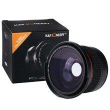 K & F CONCEITO 52mm x Lente Olho de peixe Grande Angular Macro Lentes Panorâmicas para Canon 600d 550d Nikon D3300 Penta Sony SLR DSLR Camera