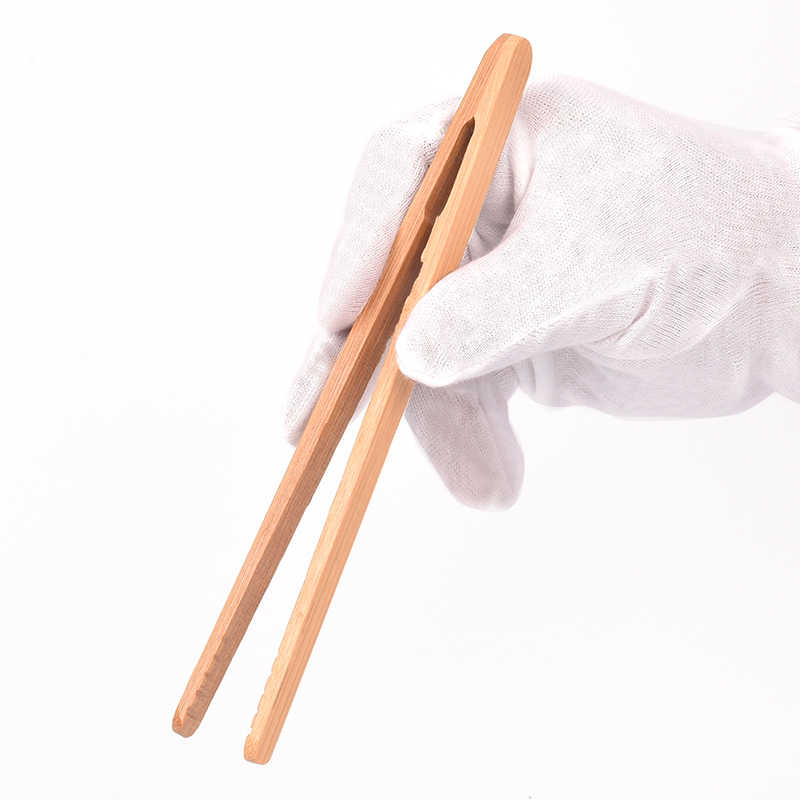 18 Cm Teh Kayu Penjepit Daging Teh Klip Penjepit Bambu Dapur Salad Makanan Roti Panggang
