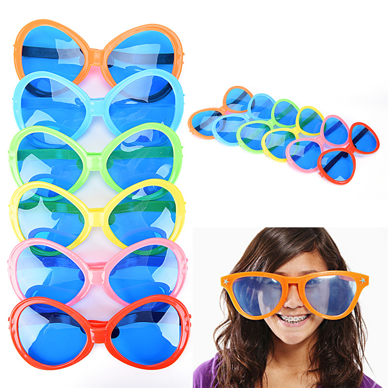US $1 91 16% OFF|Plastic Glasses Party Props Big Glasses Party Christmas  Birthday Halloween Party Decoration Supplies Glow Glasses-in Photobooth  Props