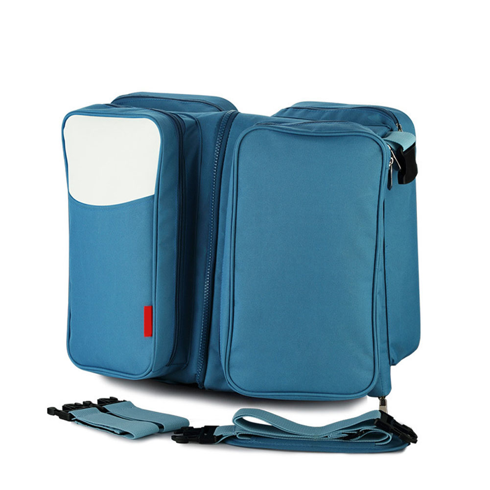 New Arrival Multi-function Mummy Shoulder Bags Portable Folding Travel Crib bolsa maternidade para baby Dropshipping LBY2017