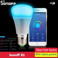 Sonoff B1 Dimmer Đèn Led Wifi Thông Minh Điều Khiển Từ Xa Light Bulbs Led RGB và trắng Thay Đổi màu sắc Light Bulb Làm Việc Với Alexa