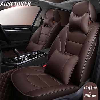 AUSFTORER Genuine Leather Seat Covers for Infiniti JX35 2013 Seat Cover for Car Cowhide 7 Seats Support Cushion Accessories 22PC