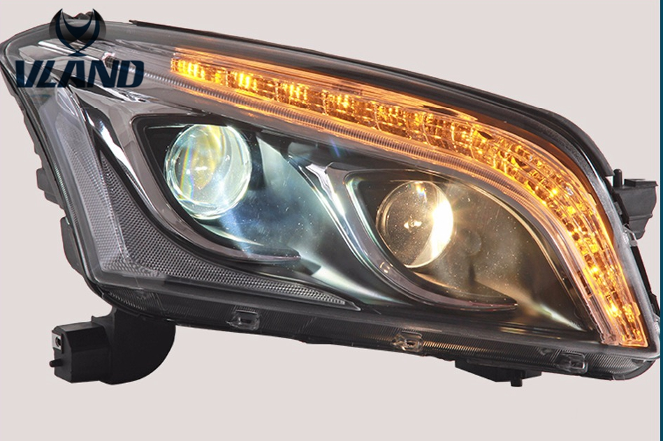 Free shipping Vland  Car Styling LED Head Lamp for Chevry Trax headlights 2013-2016  led drl H7 hid Bi-Xenon Lens low beam free shipping for vland car styling head lamp for vw golf 7 headlights led drl led signal h7 d2h xenon beam