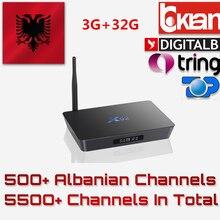 A albânia s912 X92 IPTV Caixa de TV Android Amlogic 32G Europa Super Italiano Portugal Alemanha Tv Por Assinatura Assinatura IPTV Smart TV IP caixa