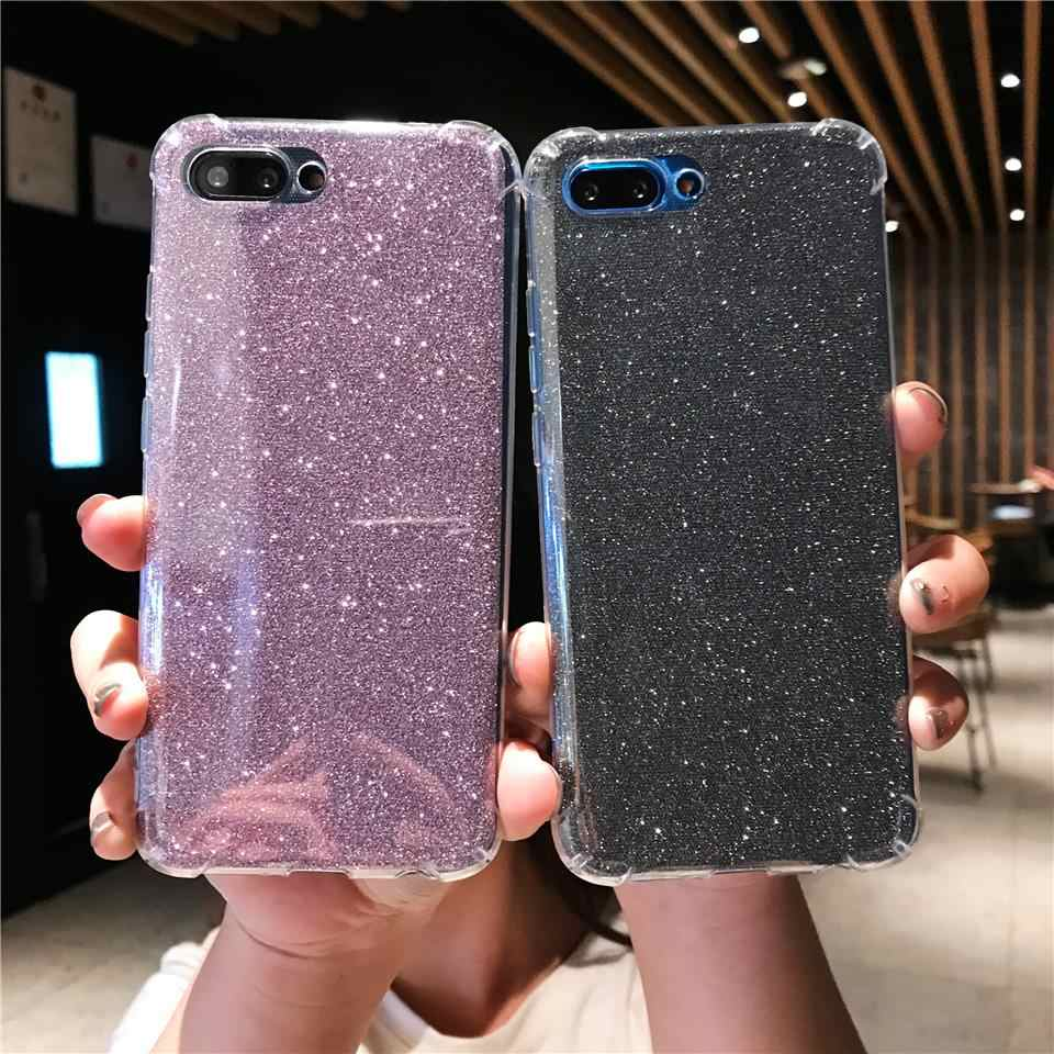 Glitter Anti-Shock Silicone Case For Huawei Honor 10 8X 7X 7C 6A 7A Y6 2018 P20 Lite P10 Mate 20 Pro 9 Nova 3 TPU Soft Cover