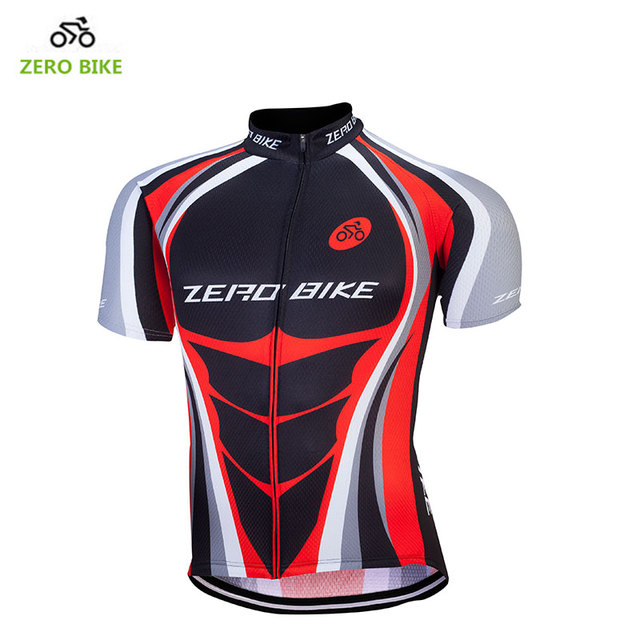 ZERO BIKE 100% Polyester Breathable Cycling Jersey Men Short Sleeves  Mountain Bike bicycle Clothing Red Maillot Ciclismo 06f2cd79f
