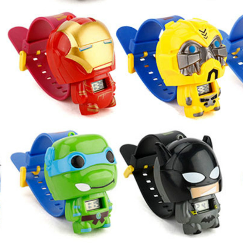 N0010 Kids Watches Nijago Hulkbuster Iron Man Spiderman Toy For Children Watch Girl Boy