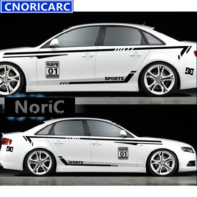 CNORICARC Racing Sport Styling Waist Lines Customized Decal Car - Lexus custom vinyl decals for car