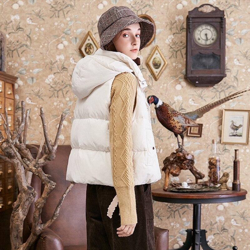 Duvet Capuche Dk10281d Beige Solide Femmes Hiver Cordon De Bas Artka Canard Vers Gilet Arc À White Blanc 90 2018 Automne Le Nouvelle Doux Manteau p1wwxqz0B