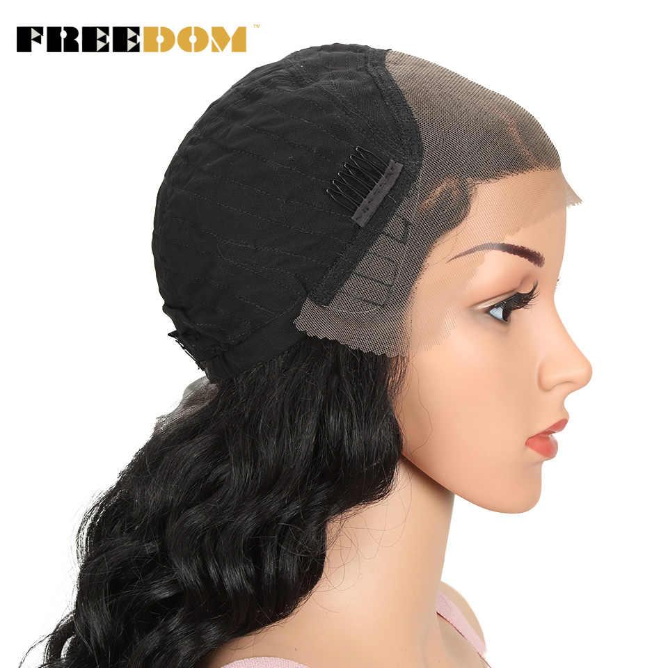 Özgürlük sentetik dantel ön peruk 26 inç kolay 360 dantel peruk at kuyruğu sarışın isıya dayanıklı uygun saç peruk yüksek maliyet performansı