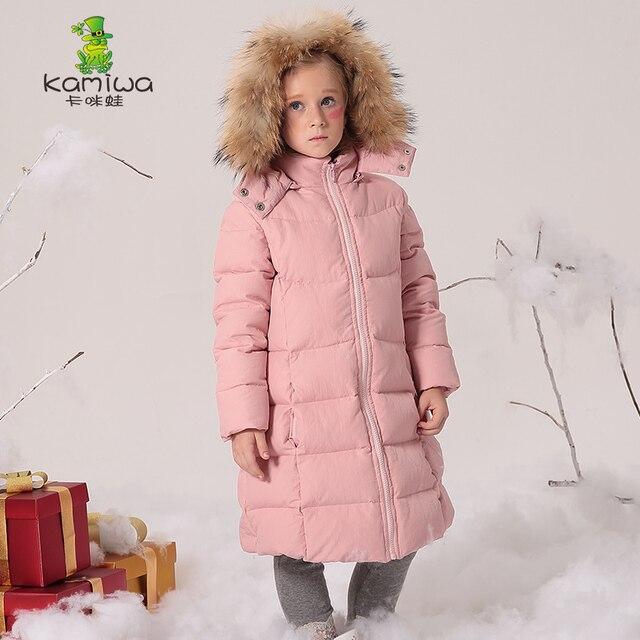 a4c3a6733 KAMIWA 2018 Long Girls Winter Coats And Jackets Outwear Warm Down ...