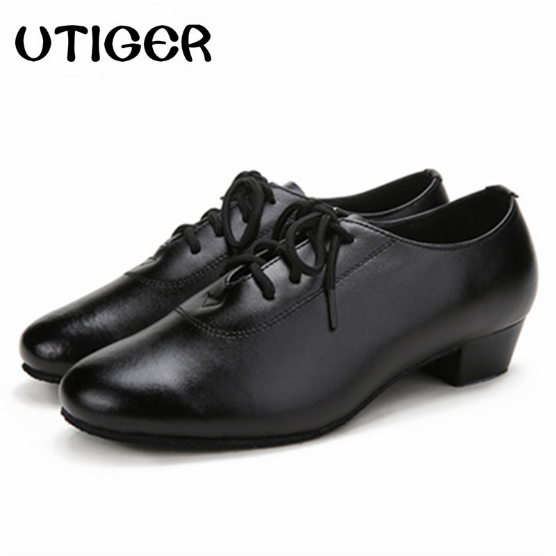 2019 Men Children Boy Modern Ballroom Tango Latin Dancing Shoes Heel 2.5CM 3CM 4CM Women Man Kid Boys Dance Shoes WD259