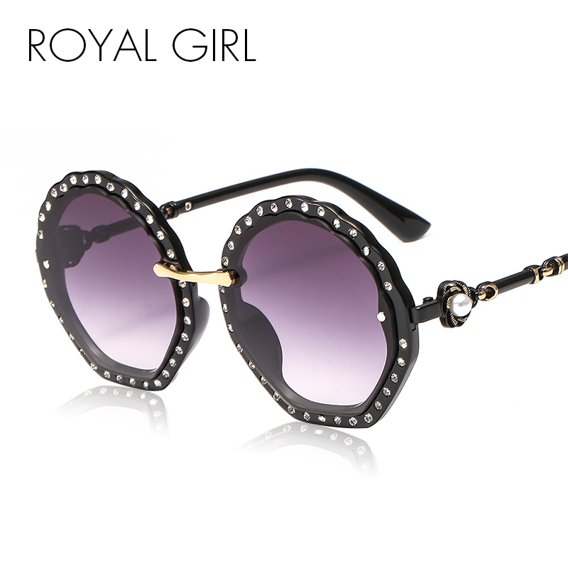Royal Menina Dos Óculos De Sol Mulheres Designer de Marca de Diamantes de Luxo Strass Moda Feminina Gradiente de Óculos de Sol Luneta de sol SS557