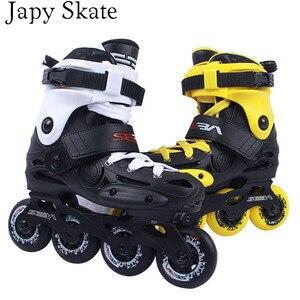 Image 2 - Japy סקייט מקורי סבע EB מקצועי סלאלום Inline גלגיליות מבוגרים נעלי החלקה על רולר הזזה משלוח החלקה Patines