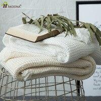 HAKOONA Japanese Style Cotton Waffle Thin Towel Quilt Blankets Beds Thorw Honeycomb Blanket Washable 140*200cm 100*140cm
