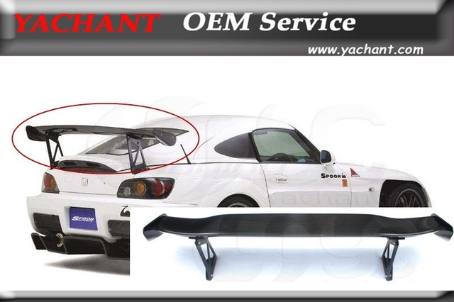 US $259 0 |Car Styling FRP Rear Trunk Spoiler Fit For 00 08 S2000 AP1 AP2  Spoon Style GT Wing Length:1500mm Height: 400mm Width:250mm-in Spoilers &