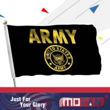 MOFAN 3×5 Foot US Army Flag -Canvas Header and Double Stitched-NEW US Military Gold with 2 brass grommets 90x150cm