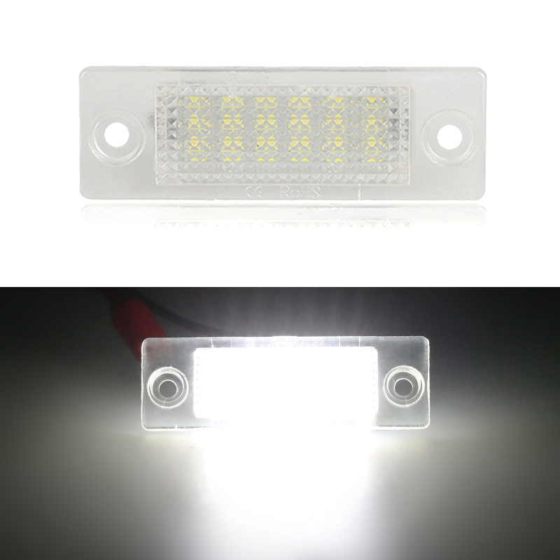 2pcs/1pair White Car Rear Number License Plate <font><b>Lights</b></font> Canbus 12V For VW Jetta <font><b>Golf</b></font> <font><b>5</b></font> Plus Caddy Passat Transpiarter Touran Skoda image