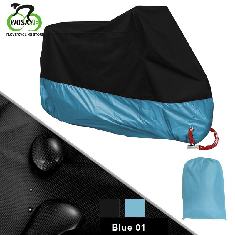 WOSAWE Bike Motorcycle Cover Waterproof Dustproof UV Protective Outdoor Moto Scooter Bike Rain Cover Bicycle Protective Gear