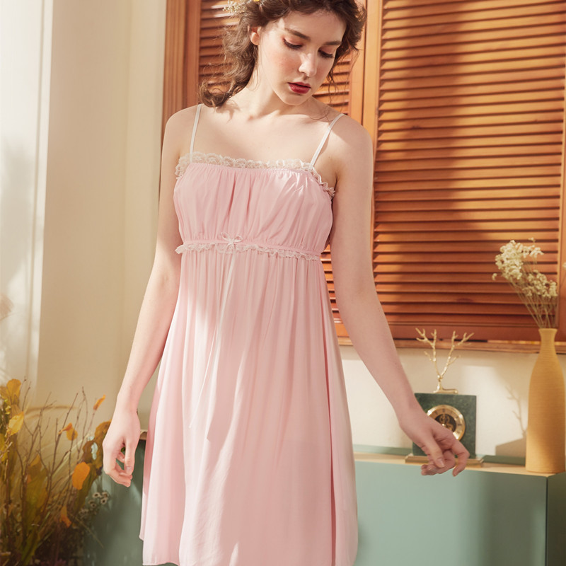 Sling Sleepwea Girl Sexy Princess Nightdress Female Palace   Nightgown   Women   Sleepshirts   Babydoll Womens   Nightgown   Sleepwear
