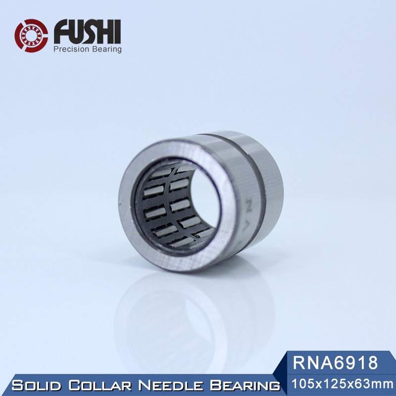 RNA6918 Bearing 105*125*63 mm ( 1 PC ) Solid Collar Needle Roller Bearings Without Inner Ring 6634918 6354918 Bearing все цены