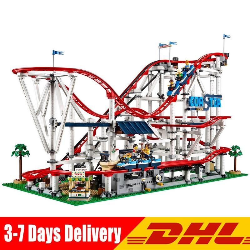 Lepin 15039 4619 pz Ragazza Parco Giochi Roller Coaster Set Buidling Blocchi Mattoni Giocattoli Del Capretto Compatibile Legoingly 10261 Giocattolo Modello Regalo