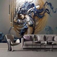 3D Custom Mural Wallpaper Stereoscopic Embossed Fashion Art Beauty