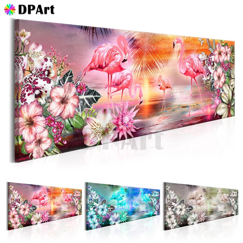 Diamond Painting 5D Full Square/Round Drill Flamingo Scenery Daimond Embroidery Painting Cross Stitch Kit Mosaic Picture M808Diamond Painting 5D Full Square/Round Drill Flamingo Scenery Daimond Embroidery Painting Cross Stitch Kit Mosaic Picture M808